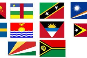 banderas llamativas