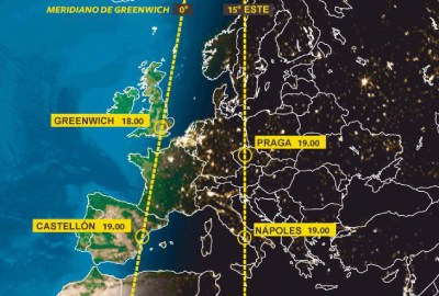 huso horario greenwich España y Europa