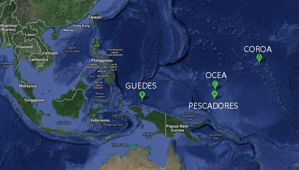 Islas españolas oceano pacifico