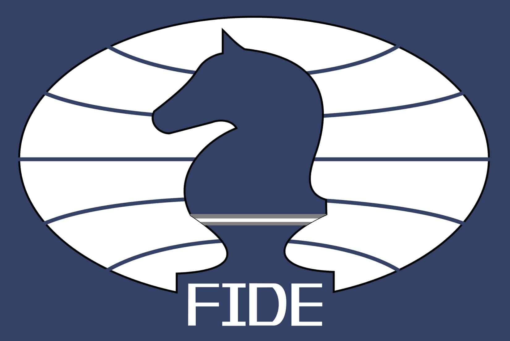 Imagen con el logo de la federación internacional del ajedrez