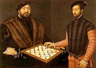 El cuadro Juan Federico de Sajonia jugando al ajedrez,