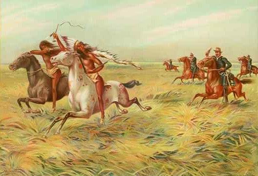 Indios y caballería