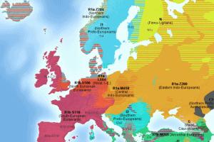 mapa genética europa adn y