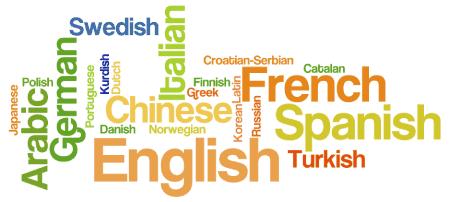 nube de idiomas
