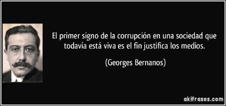 frase george bernanos corrupcion