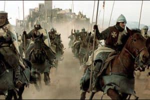 caballeros cruzados a caballo