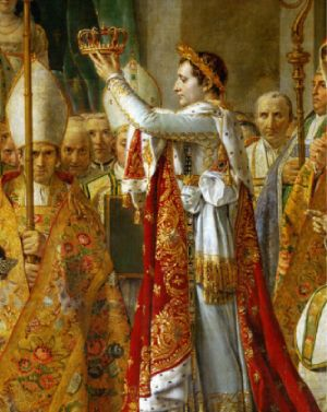 auto coronación napoleón como emperador