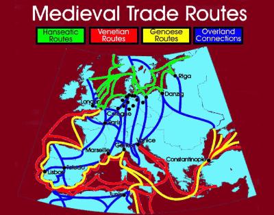 rutas comerciales Edad Media