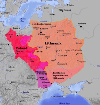 Mapa Mancomunidad de Polonia-Lituania