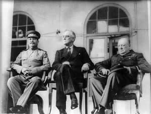 Conferencia de Teherán Stalin Roosevelt Churchill
