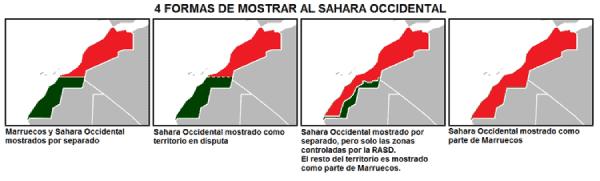 Mapa Sáhara Occidental