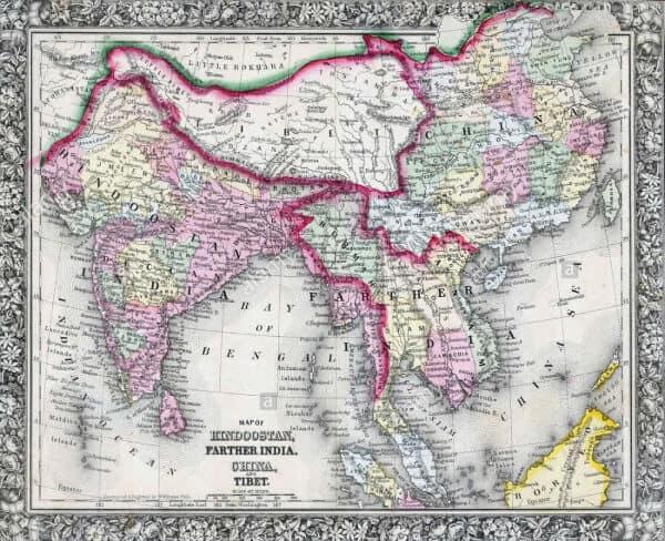 Asian map XIX