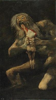 Saturno devorando a su hijo Goya