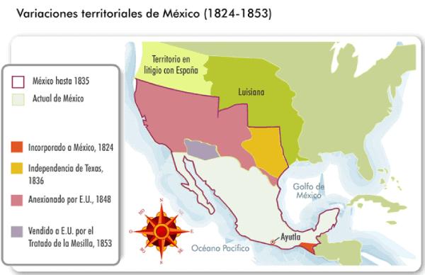 Evolucion territorio mexicano