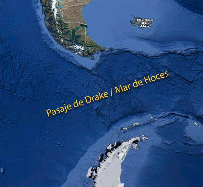 Mar de Hoces América Antártida