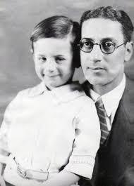 Fotografía de Groucho Marx con su hijo