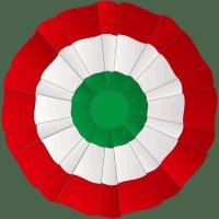 Escarapela colores Italia