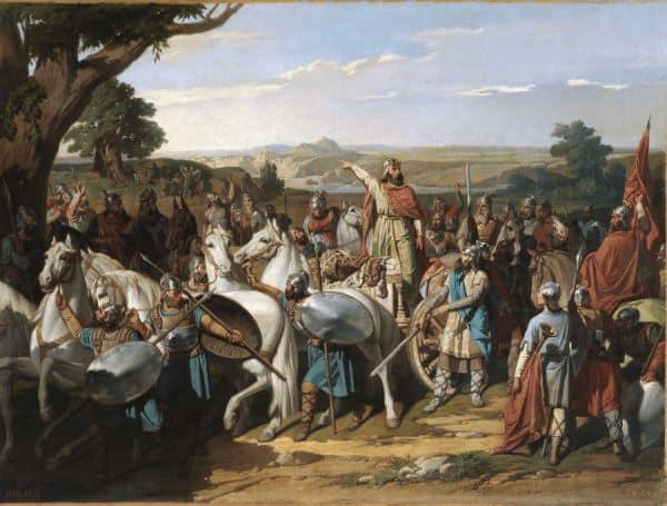 Imagen de Rodrigo en la batalla de Guadalete