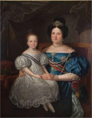 Isabel II y María Cristina