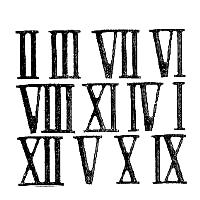 numeros romanos del 1 al 12