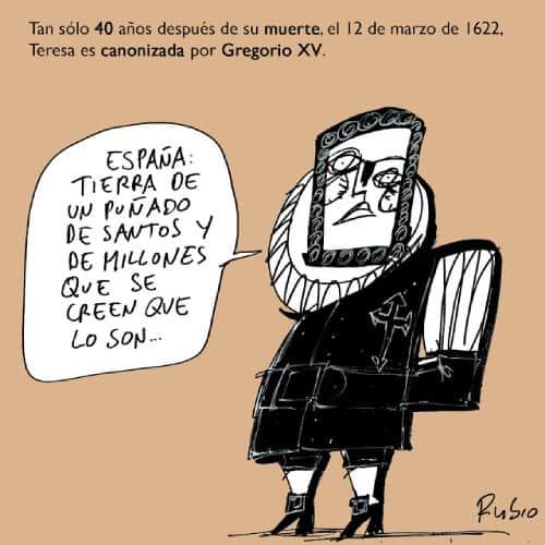 viñeta humor santos españoles