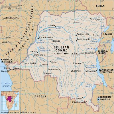 Mapa Congo Belga