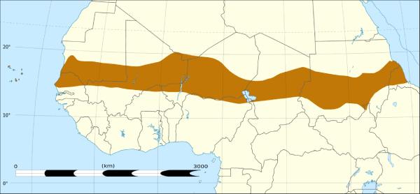 Mapa del Sahel