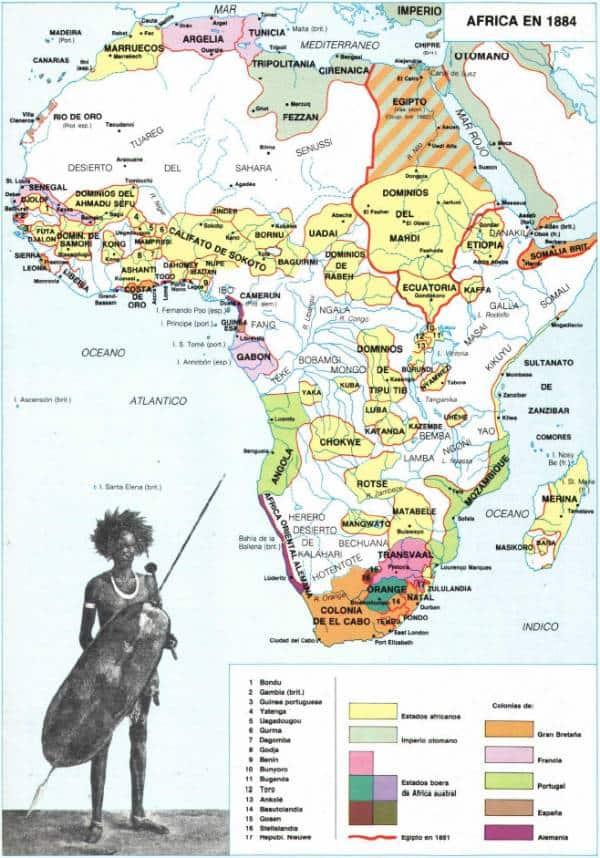 Mapa de áfrica 1884