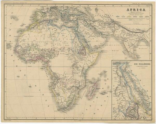 Mapa de Kiepert Africa
