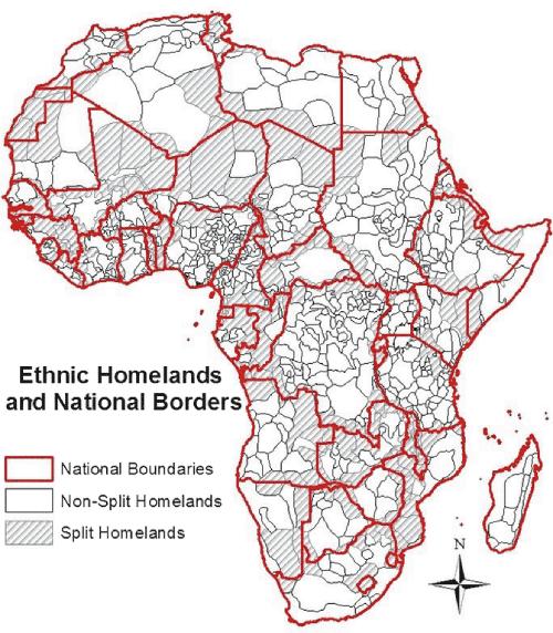 etnias y fronteras África