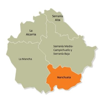mapa comarcas Cuenca