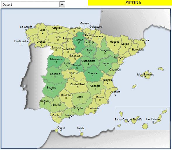 mapa municipios con sierra en el nombre