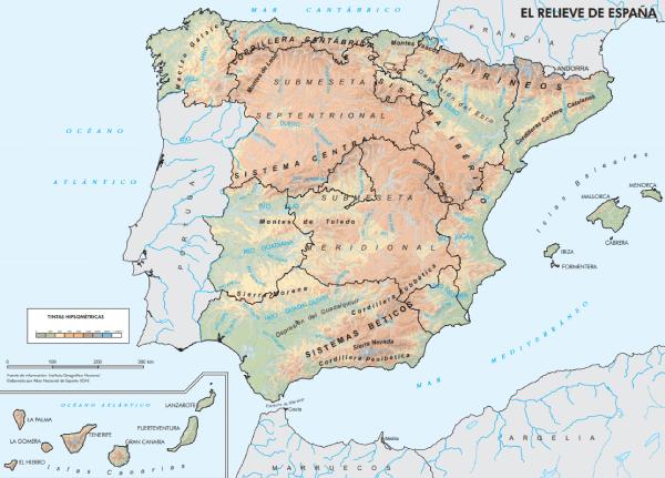 Mapa físico España