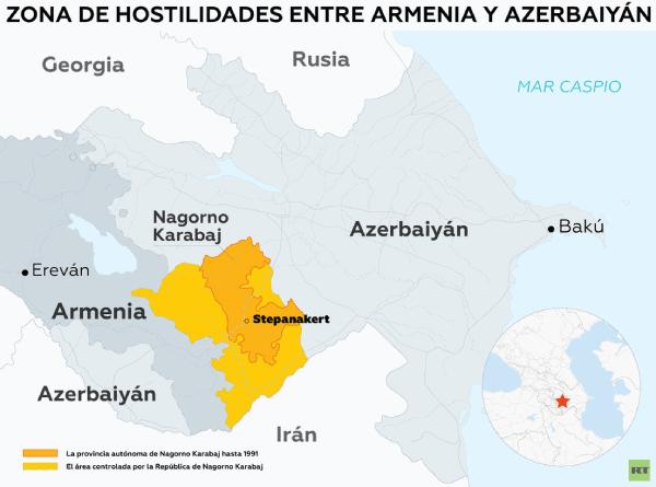 Mapa territorio ocupado Republica Artsaj