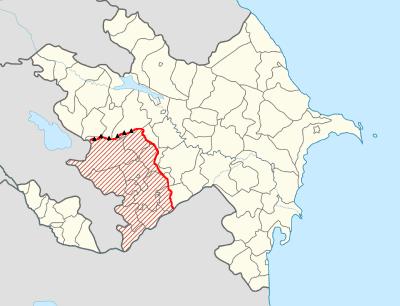 Mapa línea control Alto Karabaj