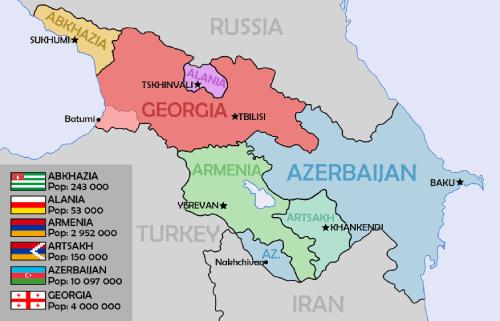 Mapa Transcaucasia
