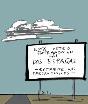viñeta las dos Españas