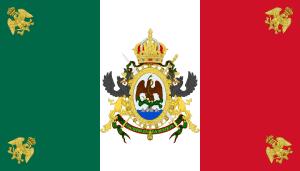 bandera segundo imperio mexicano