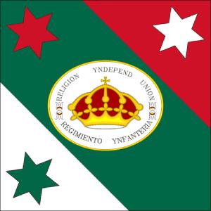 Bandera de las tres garantias militar