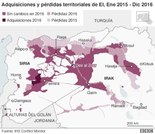 Mapa estado islamico
