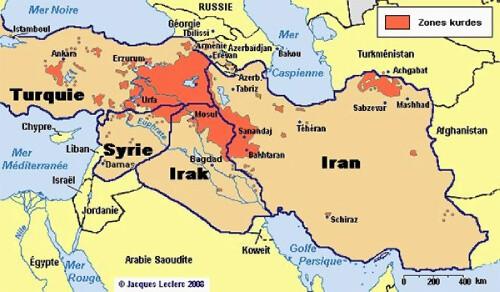 Mapa kurdos kurdistán