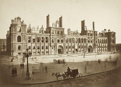 Ayuntamiento de la comuna de París tras los combates durante la semana sangrienta